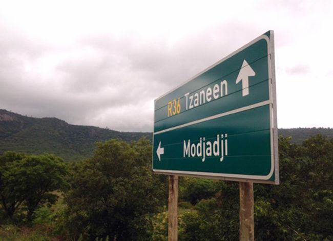 Sign pointing to Tzaneen from Polokwane
